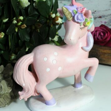 Blüten Einhorn Dekofigur Unicorn Fantasy Märchenfigur