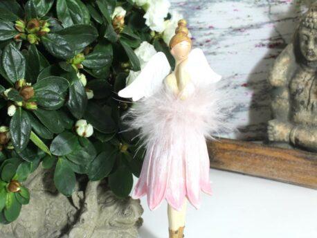 Deko Figur Dekoration Schutzengel Blütenkelch