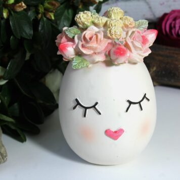 Dekofigur Blüten Deko Ei