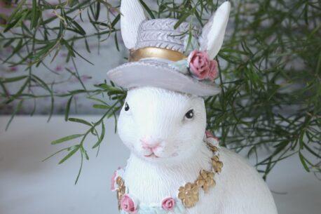 Dekofigur Blüten Häschen mit Hut