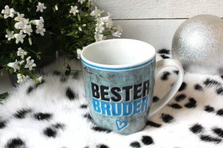 Henkelbecher Sprüche Kaffeetasse Bester Bruder