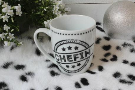 Henkelbecher Sprüche Kaffeetasse Chefin