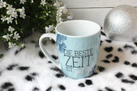 Henkelbecher Sprüche Kaffeetasse Die Beste Zeit Ist jetzt