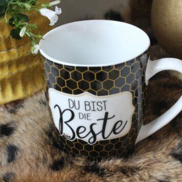 Henkelbecher Sprüche Kaffeetasse Du Bist Die Beste