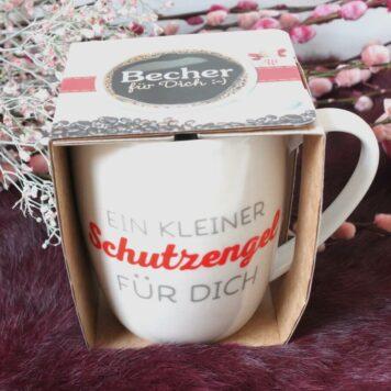 Henkelbecher Sprüche Kaffeetasse Ein Kleiner Schutzengel Für Dich