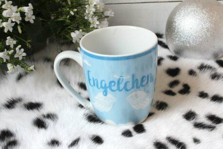 Henkelbecher Sprüche Kaffeetasse Engelchen