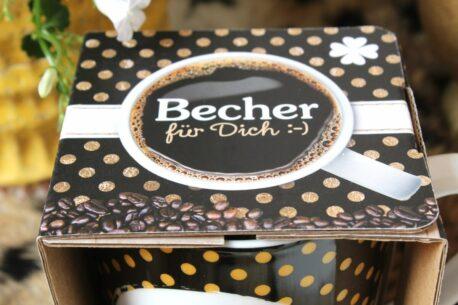 Henkelbecher Sprüche Kaffeetasse Glücks Becher