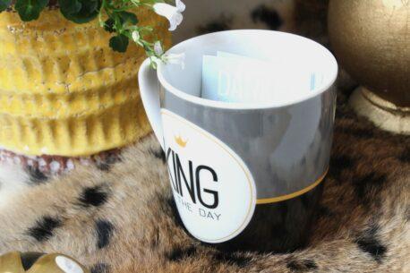 Henkelbecher Sprüche Kaffeetasse King Of The Day