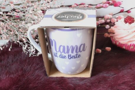 Henkelbecher Sprüche Kaffeetasse Mama ist die Beste