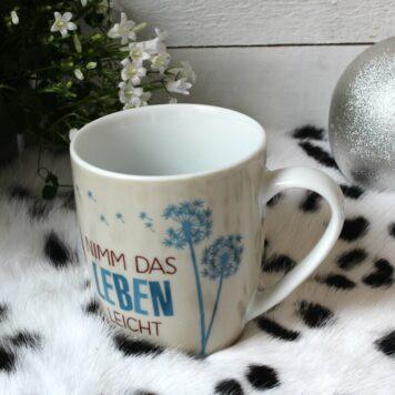 Henkelbecher Sprüche Kaffeetasse Nimm Das Leben Leicht