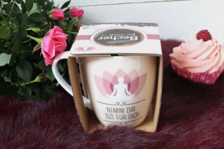 Henkelbecher Sprüche Kaffeetasse Nimm Dir Zeit Für Dich