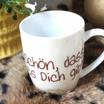 Henkelbecher Sprüche Kaffeetasse Schön, Dass Es Dich Gibt Smily