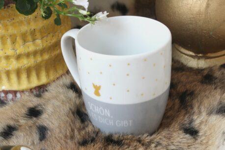 Henkelbecher Sprüche Kaffeetasse Schön Dass es dich gibt Angel