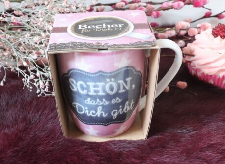 Henkelbecher Sprüche Kaffeetasse Schön, dass es Dich gibt Star2