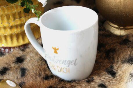 Henkelbecher Sprüche Kaffeetasse Schutzengel Für Dich