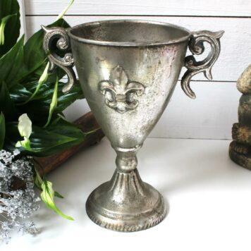 Pokal Kelch Aluminium Fleur-de-Lis