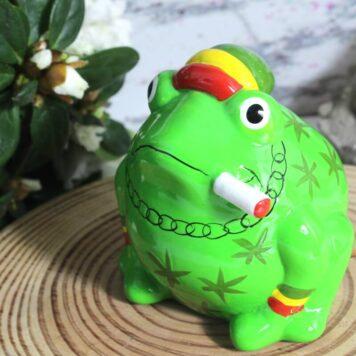 Pomme Pidou Spardose Frosch Freddy Peace