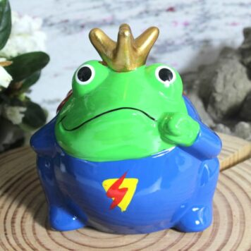 Pomme Pidou Spardose Frosch Superfrog Superman