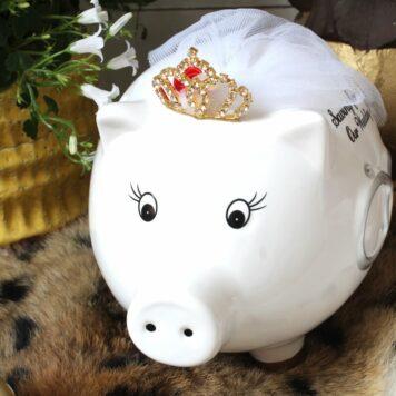Pomme Pidou Spardose Sparschwein Hochzeit Glücksschwein