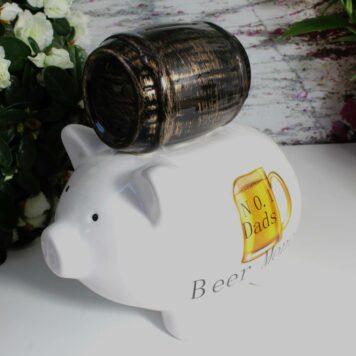 Pomme Pidou Spardose Sparschwein No.1 Dads Beer Money