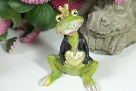 Deko Figuren Frosch König & Königin