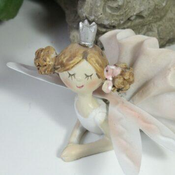 Dekofigur Blütenfee Prinzessin chillt