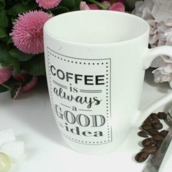 Henkelbecher Sprüche Kaffeetasse Coffee is always a Good idea