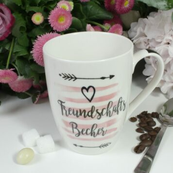Henkelbecher Sprüche Kaffeetasse Freundschaftsbecher