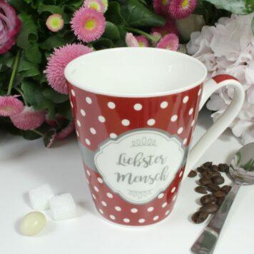 Henkelbecher Sprüche Kaffeetasse Liebster Mensch
