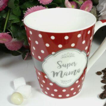 Henkelbecher Sprüche Kaffeetasse Super Mama