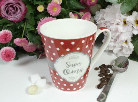 Henkelbecher Sprüche Kaffeetasse Super Oma