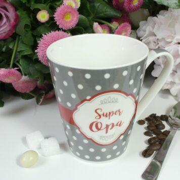 Henkelbecher Sprüche Kaffeetasse Super Opa