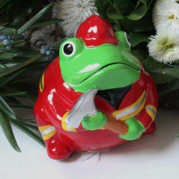 Pomme Pidou Spardose Frosch Freddy Feuerwehr