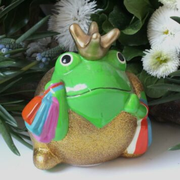Pomme Pidou Spardose Frosch Freddy Gold Shopper