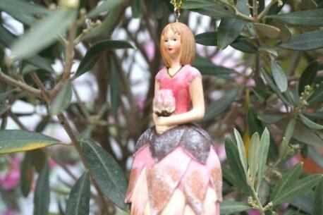 Deko Figur Dekohänger Blumenfee Anemone