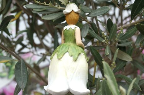 Deko Figur Dekohänger Blumenfee Blütenkelch