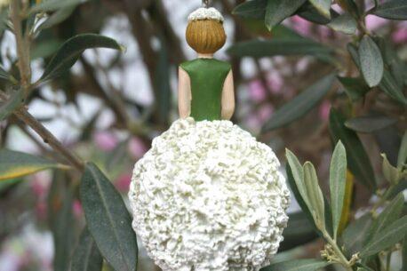 Deko Figur Dekohänger Blumenfee Körbchen