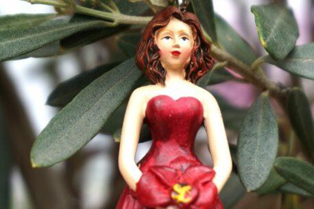 Deko Figur Dekohänger Blumenfee Lady in Red