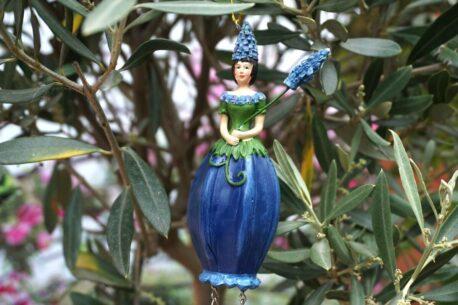 Deko Figur Dekohänger Blumenfee Princess blue
