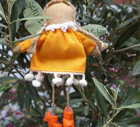 Schutzengel Chazan aus Stoff Baumwollkleid