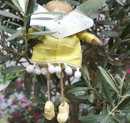 Schutzengel Eloa aus Stoff Baumwollkleid