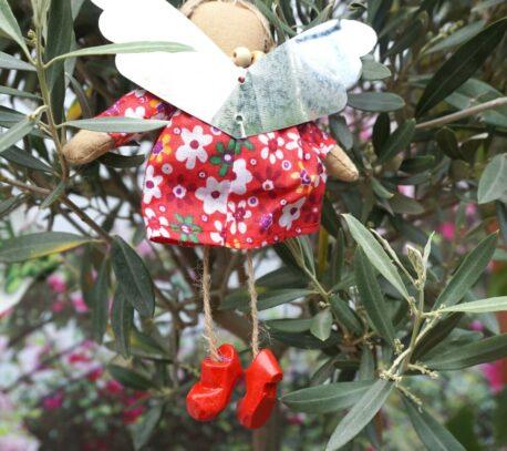 Schutzengel Galdel aus Stoff Baumwollkleid