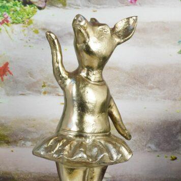 Colmore Alu Dancing Pig Schwein Ballet Design