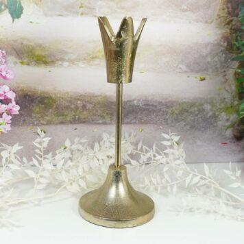 Colmore Edle Krone Kerzenständer Kerzenleuchter Bronze klein