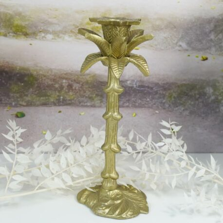 Colmore Edler Palmen Kerzenständer Kerzenleuchter Bronze