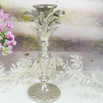 Colmore Edler Palmen Kerzenständer Kerzenleuchter Silver