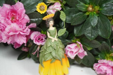 Deko Figur Dekohänger Blumenkind Sonnenblume