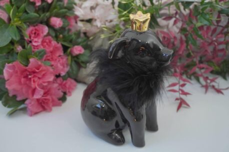 Dekofigur Schutzengel Glücksschwein Black Plüschi