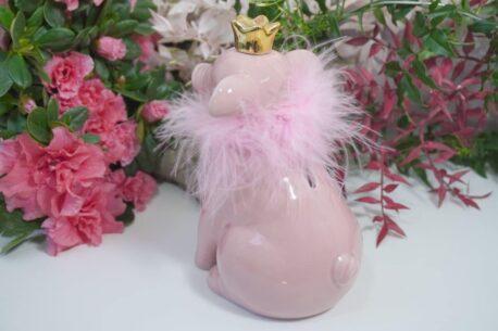 Dekofigur Schutzengel Glücksschwein Rosa Plüschi