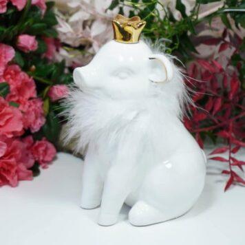 Dekofigur Schutzengel Glücksschwein White Plüschi